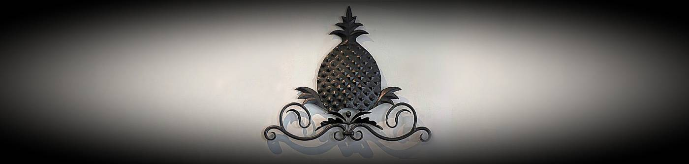 A pineapple - believed to be an expression of 'welcome' and symbolizes friendship